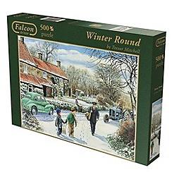 Jumbo - Falcon deluxe winter round 500 piece puzzle