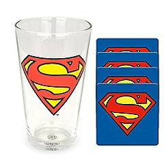 Superman - Glass and coaster set