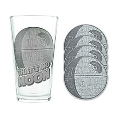 Star Wars - Death star glass and coasters