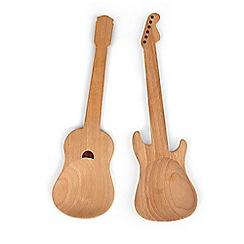 Kikkerland - Beech Wood + Rockin Guitar Salad Servers