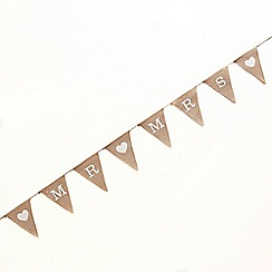 Ginger Ray - Hessian bunting mr & mrs