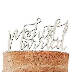 Ginger Ray - Boho - wooden just married cake topper