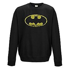 DC Comics - Batman - distressed logo crewneck sweatshirt