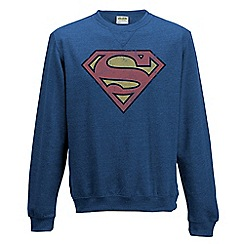 DC Comics - Superman - distressed logo crewneck sweatshirt