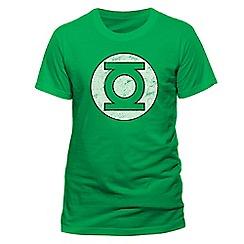 DC Comics - Green lantern - distressed logo tshirt