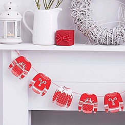 Ginger Ray - Red and White Wooden Jumper Bunting