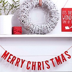 Ginger Ray - Red Wooden Merry Christmas Bunting