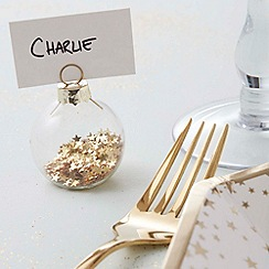 Ginger Ray - Gold Glass Bauble Place Card Holder