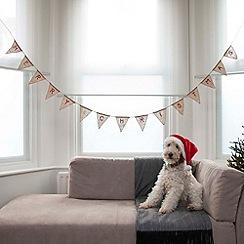 Ginger Ray - Hessian Merry Christmas Bunting
