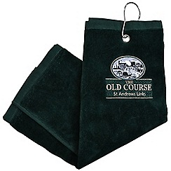 Golf Gifts - St Andrews 3 fold towel - green
