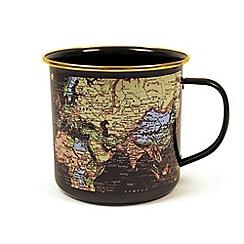 Gift Republic - World Enamel Mug Blue