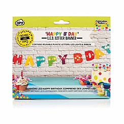 npw - Multi coloured 'Happy B'day' light up banner