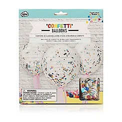 npw - Multi coloured confetti filled balloons