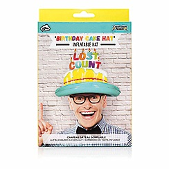 npw - Multi coloured inflatable 'lost count' birthday cake hat