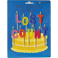 NPW - Multi coloured 'lost count' birthday candles