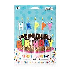 NPW - Multi coloured 'Happy Birthday' birthday candles