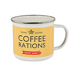Zak - Dads army tin mug - coffee rations