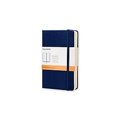 Moleskine - Pocket ruled sapphire blue hard cover notebook