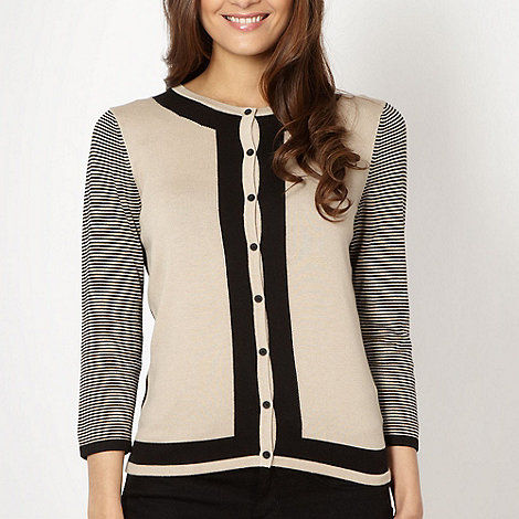 Betty Jackson.Black - Designer natural colour block cardigan