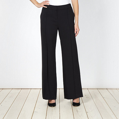 Betty Jackson.Black - Designer black pleated front trousers