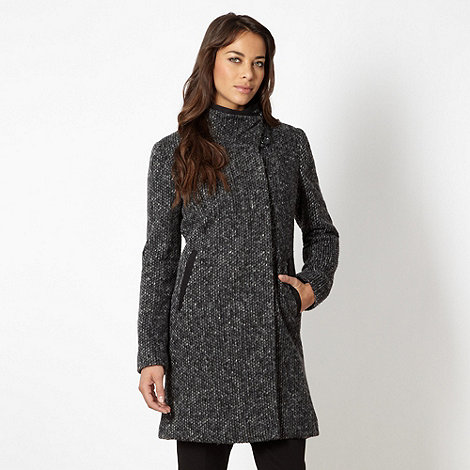 Betty Jackson.Black - Designer grey knitted coat