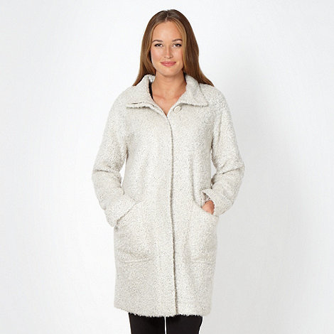 Betty Jackson.Black - Designer cream boucle coat