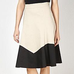 Betty Jackson.Black - Designer natural colour block skirt