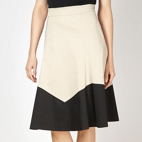 Betty Jackson.Black - Designer natural colour block skirt