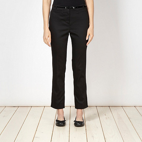 Betty Jackson.Black - Designer black slim fitting ankle trousers