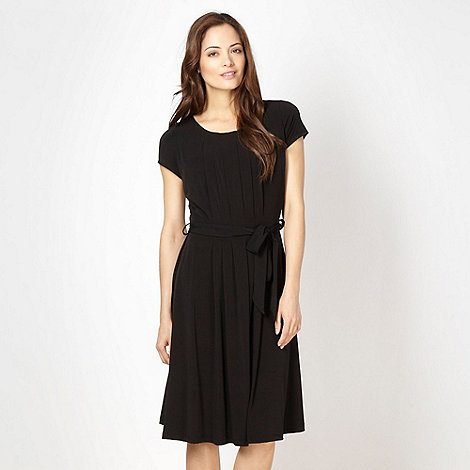 Betty Jackson.Black - Designer black pleated dress