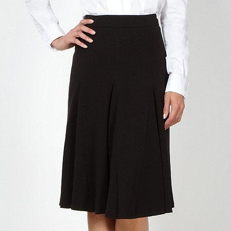 Betty Jackson.Black - Designer black crepe flared skirt