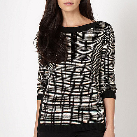 Betty Jackson.Black - Designer black and white check jumper
