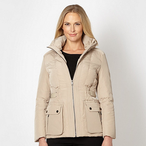 Betty Jackson.Black - Designer natural padded funnel neck jacket