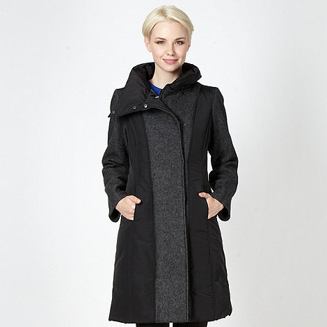 Betty Jackson.Black - Designer black padded zip coat