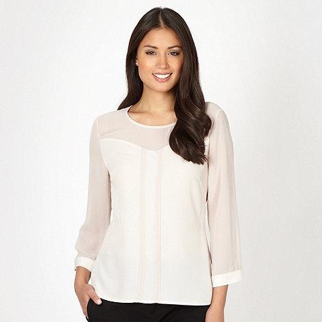 Betty Jackson.Black - Designer pale pink panel blouse