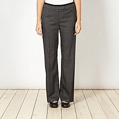 Betty Jackson.Black - Designer grey checked wide leg trousers