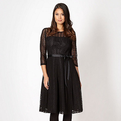 Betty Jackson.Black - Designer black circle lace dress