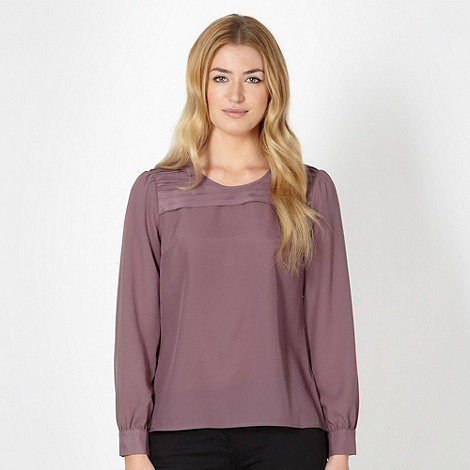 Betty Jackson.Black - Designer plum pleat front top