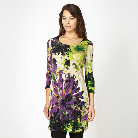Betty Jackson.Black - Designer black abstract floral tunic