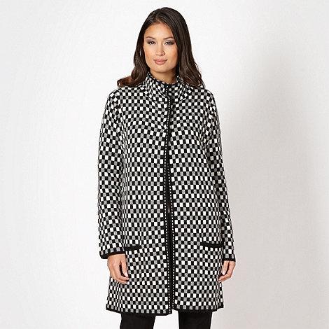 Betty Jackson.Black - Designer black checked coatigan