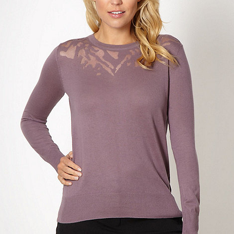 Betty Jackson.Black - Designer light purple burnout jumper
