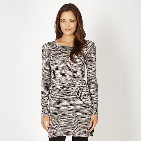 Betty Jackson.Black - Designer natural spacedye striped tunic