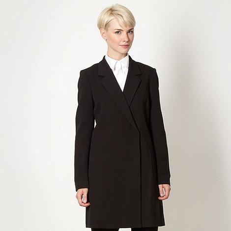 Betty Jackson.Black - Designer black crepe longline blazer