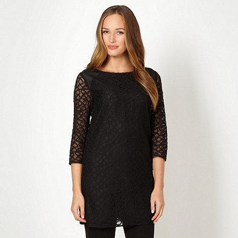 Betty Jackson.Black - Designer black lace tunic