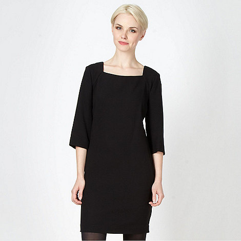 Betty Jackson.Black - Designer black crepe tunic dress