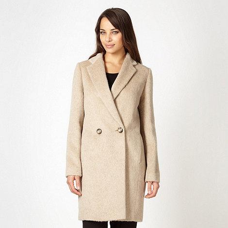 Betty Jackson.Black - Designer cream mohair blend coat