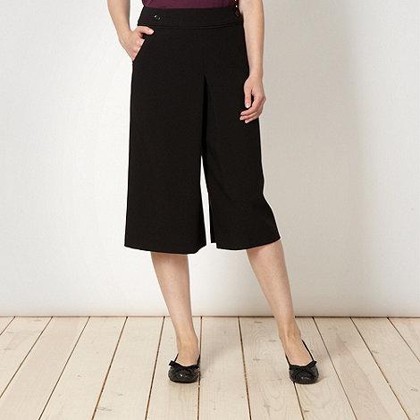 Betty Jackson.Black - Designer black crepe culottes