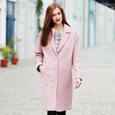 Betty Jackson.Black - Designer pink cashmere blend coat