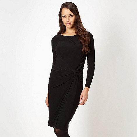 Betty Jackson.Black - Designer black knot front jersey dress