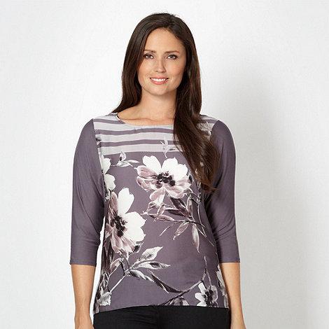 Betty Jackson.Black - Designer purple long sleeve top